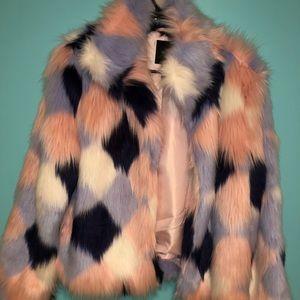 FOREVER 21 faux fur coat!